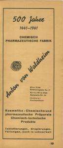 Zeitungs-Werbung v.1941  500 Jahre Chemisch Pharmazeutische Fabrik,Berlin,Anton von Waldheim (51161)