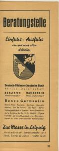 Zeitungs-Werbung v.1941  Deutscher Handwerk Reichsmesse in Leipzig  (51162)
