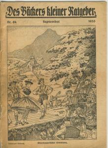 Des Bäckers kleiner Ratgeber v. Sep. 1933 Nr. 64  (51428)