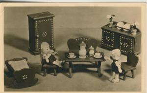 Seiffen v. 1958  Seiffener Spielzeug -- Bauernmöbel für Puppenkinder  (51614)