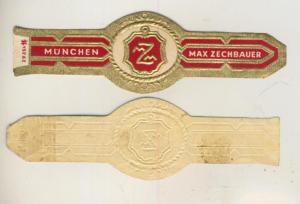 München - Zigarrenbauchbinde - Z, Max Zechbauer  (51722)