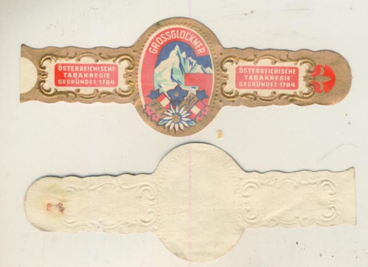 Grossglöckner - Zigarrenbauchbinde - Österreichische Tabakregie Gegründet von 1784  (51739) 0