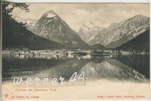 Pertisau v.1908  Dorfansicht mit dem Achensee  (8576)