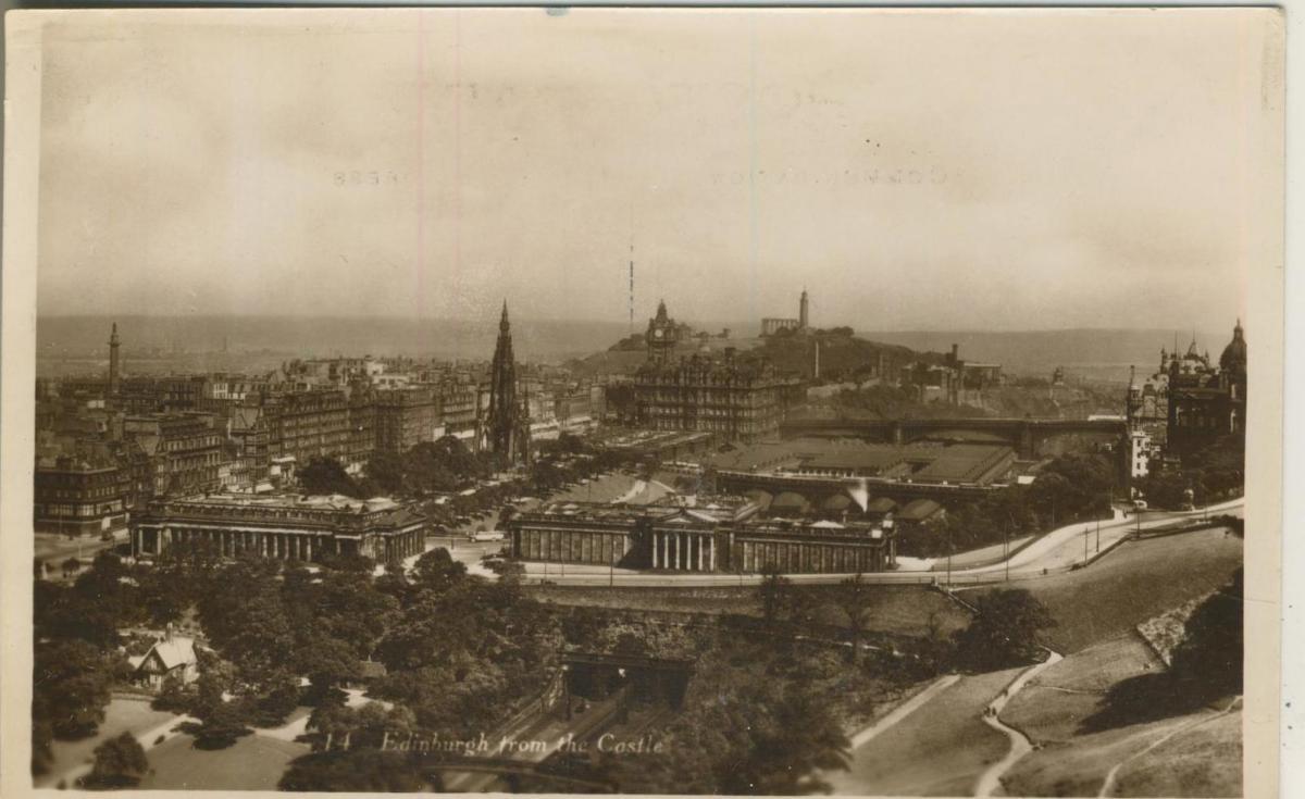 Edinburgh v. 1936  Castle and Stadt  (53178) 0