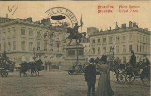 Bruxelles v. 1939 Place Royale & Journee du Timbere - Paris  --  Stempel  (53379)