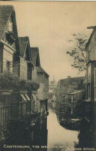 Canterbury v. 1927  The Weaving School & River Stour  (53576)