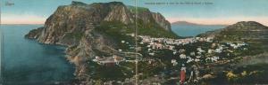 Capri v. 1916  Panorama gernerale e vista dei due Golfi di Napoli e Salerno  (53729)
