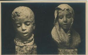 Napoli v. 1940  Muse di S. Martino Sculture di V. Gemito -- Junge & Mädchen  (53937)
