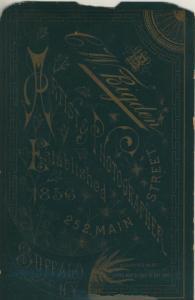Fotokarte C.W. Bigden, Rtist & Photographer.Etablished, 252 Main Street, von 1856 N.Y -- Buffalo  (53981-135)