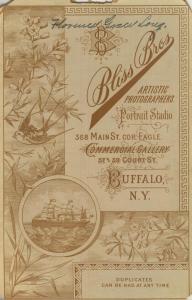 Fotokarte,Blis Bros,368 Main Street,Buffalo-N.Y..,von 1889  (53981-138)
