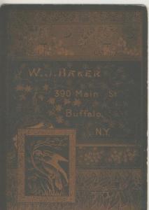 Fotokarte,W.J. Baker,390 Main Street,Buffalo-N.Y..,von 1889  (53981-139)
