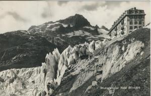 Rhonegletscher v. 1963  Gletscher und Hotel Belvedere (53993)