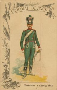 Chocolat Devinck -- Chasseurs a cheval 1812  (54099-116)