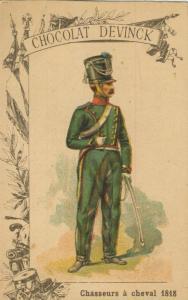 Chocolat Devinck -- Chasseurs a cheval 1818  (54099-117)
