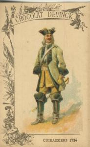 Chocolat Devinck -- Cuirassiers 1734  (54099-122)