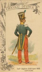 Chocolat Devinck -- Inf. legere d`Afrique 1832  -- Capitaaine  (54099-132)