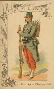 Chocolat Devinck -- Inf. legere d`Afrique 1850  (54099-134)