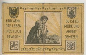 Städt-Münsterberg in Schlesien v. 1921  Gutschein über 10 Pfennig  (40009)