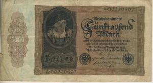 Berlin - Reichsbanknote v. 19. Nov. 1922  Fünftausend Mark  (40013)