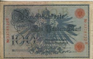 Berlin - Reichsbanknote -- 7.Febr. 1908  100 Mark  (40017)