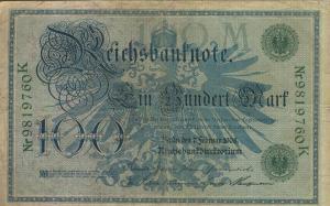Berlin - Reichsbanknote -- 7.Febr. 1908  100 Mark  (40018)