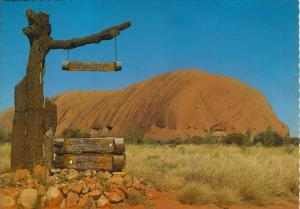 Australien v. 1970  The National Park Signpost -- Avers Rock  (55459)