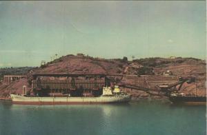 Vitoria v. 1969  Porto do Minerio mit einem Schiff  (55021)