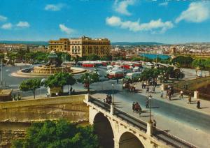 Floriana / Malta v. 1976  Bus Terminus and Triton Fountain  (56026)