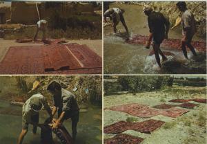 Algerien v. 1976  Teppiche werden geklopft und gewaschen und in der Sonne getrocknet  (56086)