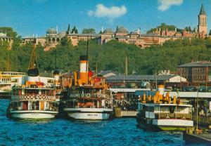 Istanbul v. 1976  Hafen mit Schiffe und das Museum (55184)