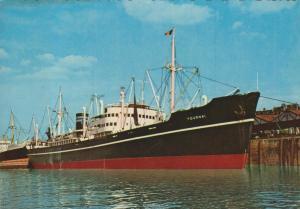 Antwerpen v. 1966  Der Hafen mit dem Schiff Tournai  (55189)