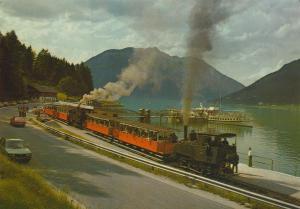 Station Achensee v. 1976  Schiffsstation mit 2 Züge  (56555)