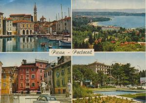 Piran-Portoroz v. 1968  4 Stadt-Ansichten  (56632)