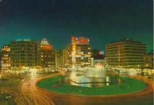 Athen v. 1972  Omonia Platz bei Nacht  (56679)