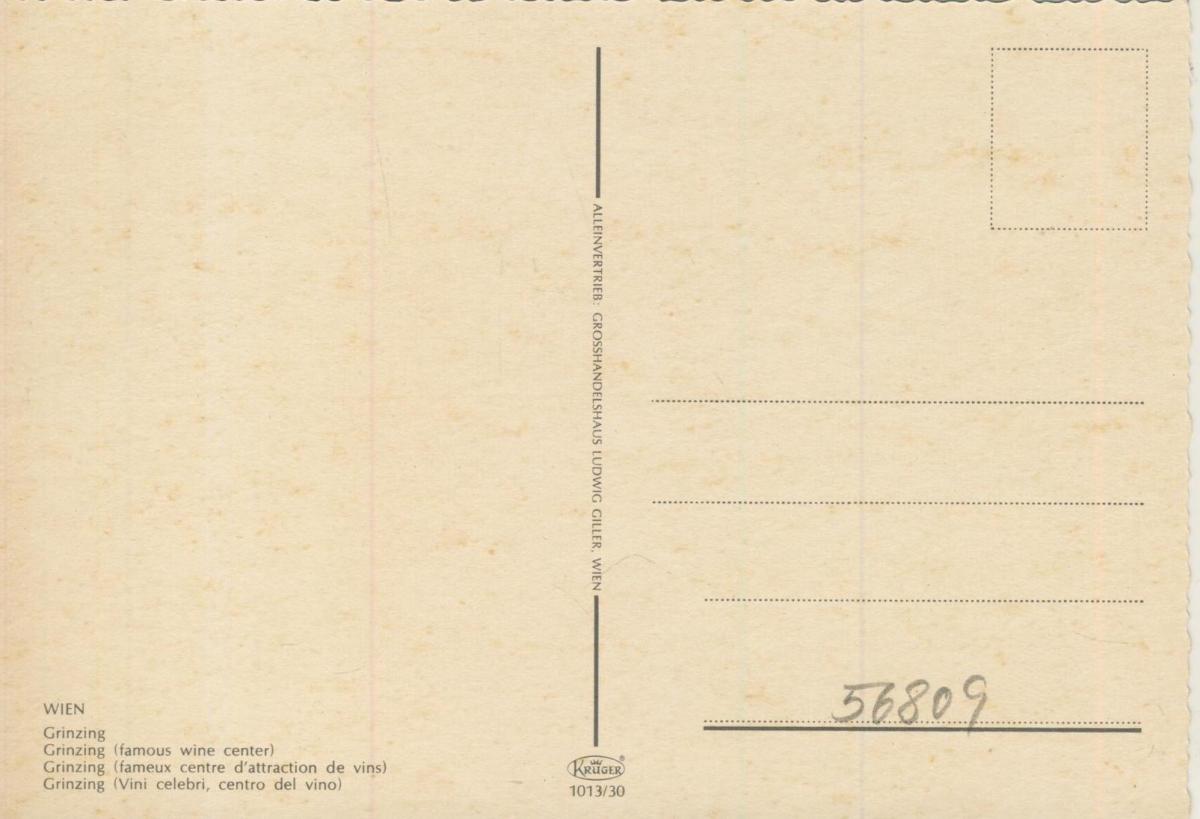 Grinzing v. 1969  Strassensicht mit Weingeschäft  (56809) 1
