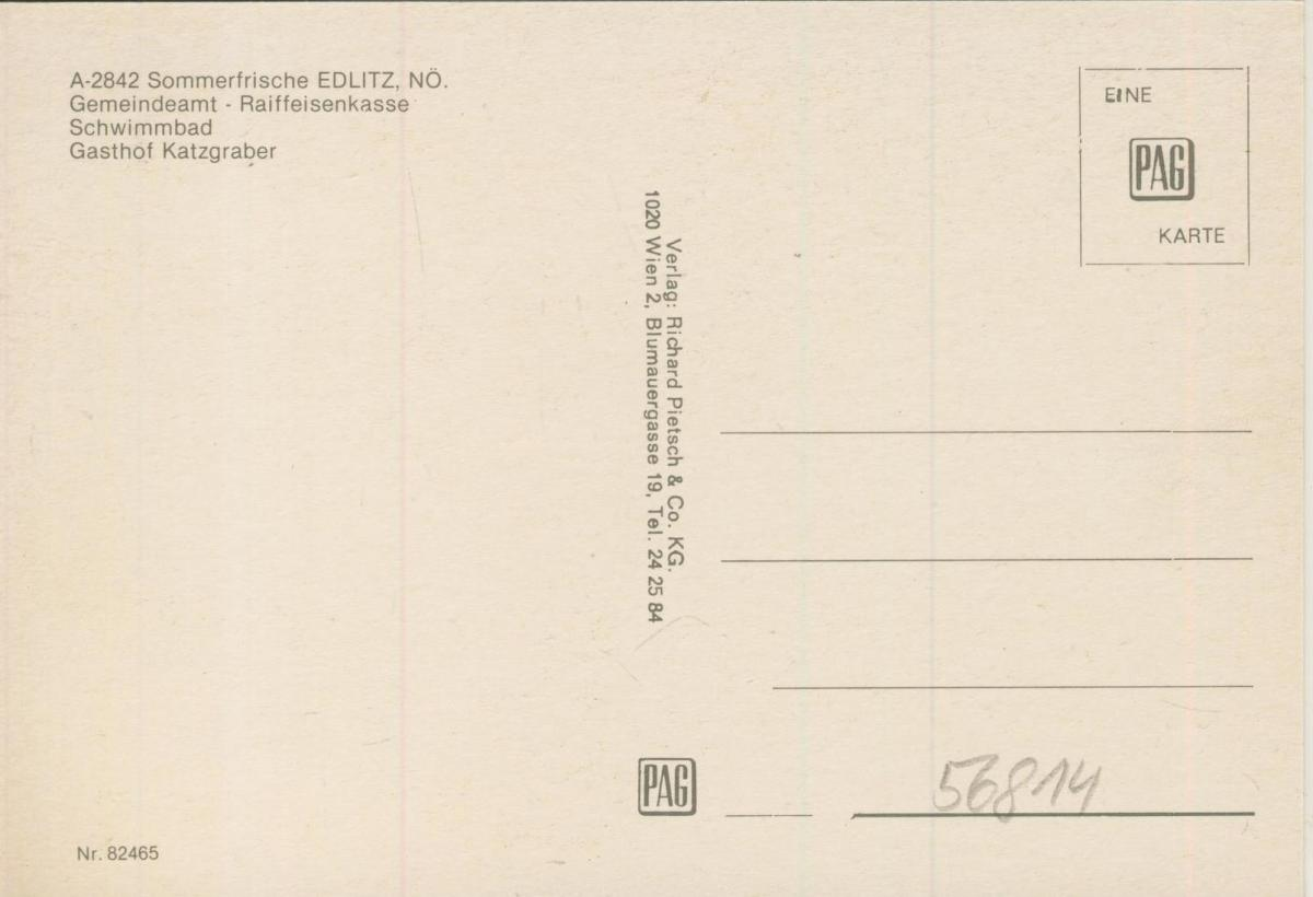Edlitz v. 1974  4 Ansichten u.a. Gasthof Katzgraber  (56814) 1