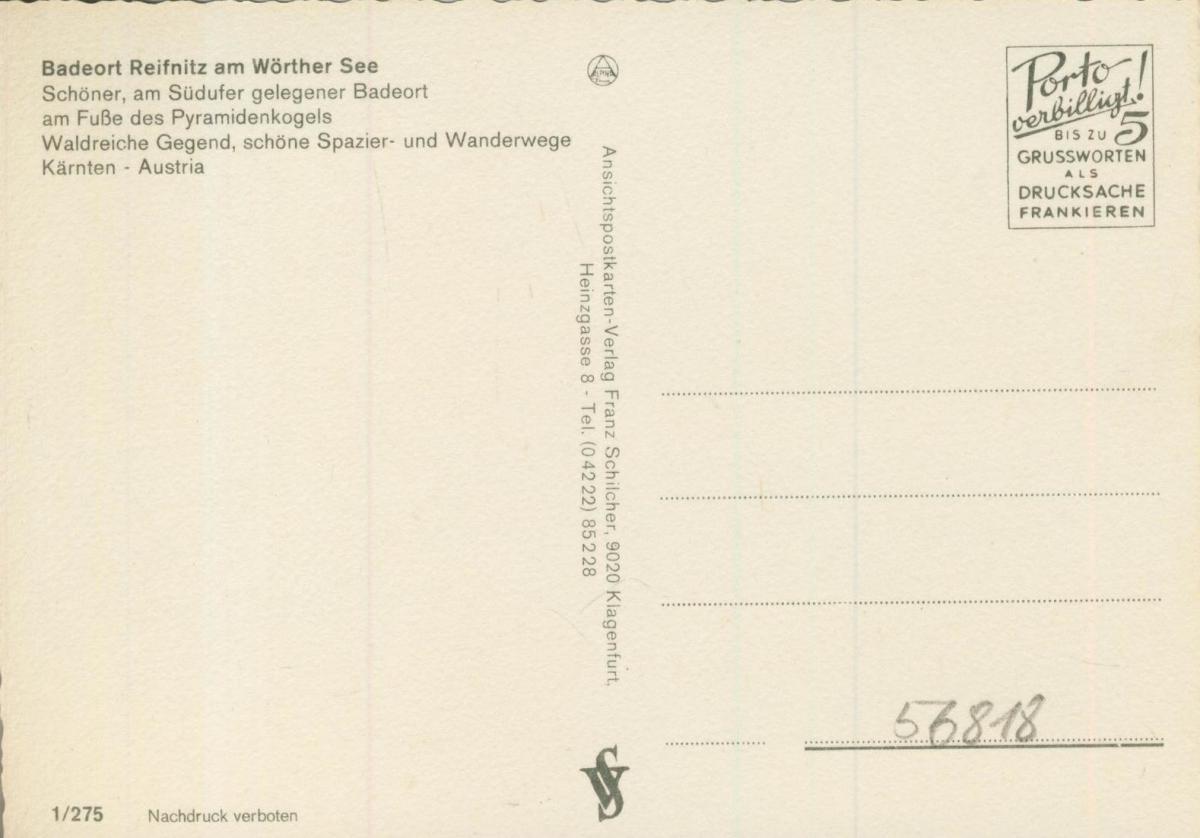 Reifnitz v. 1974  4 Ansichten u.a. Seerestaurant  (56818) 1