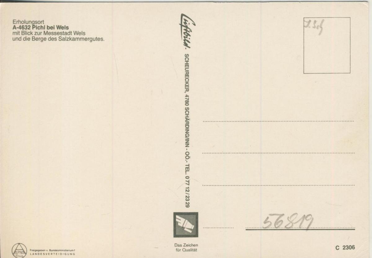 Picht bei Wels v. 1974  Luftaufnahme - Dorfansicht  (56819) 1