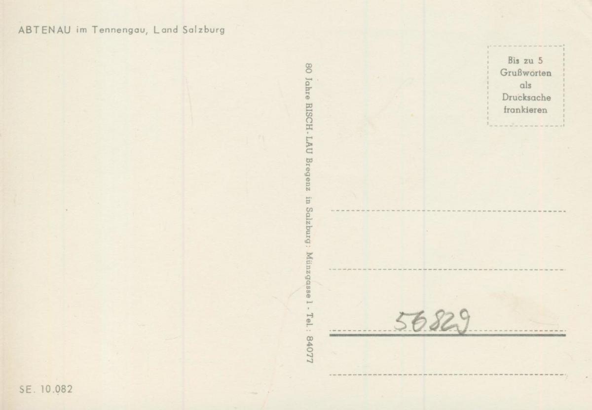 Abtenau v. 1974  Dorfansicht  (56829) 1