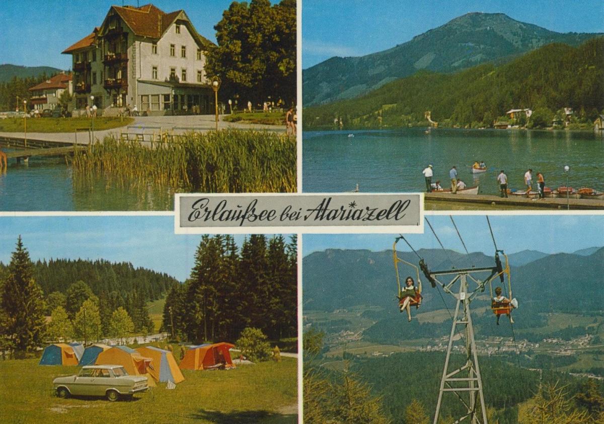 Mariazell v. 1974  4 Ansichten u.a. Hotel Herrenhaus  (56834) 0