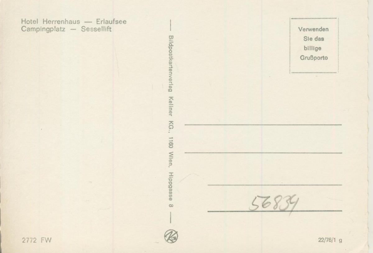 Mariazell v. 1974  4 Ansichten u.a. Hotel Herrenhaus  (56834) 1