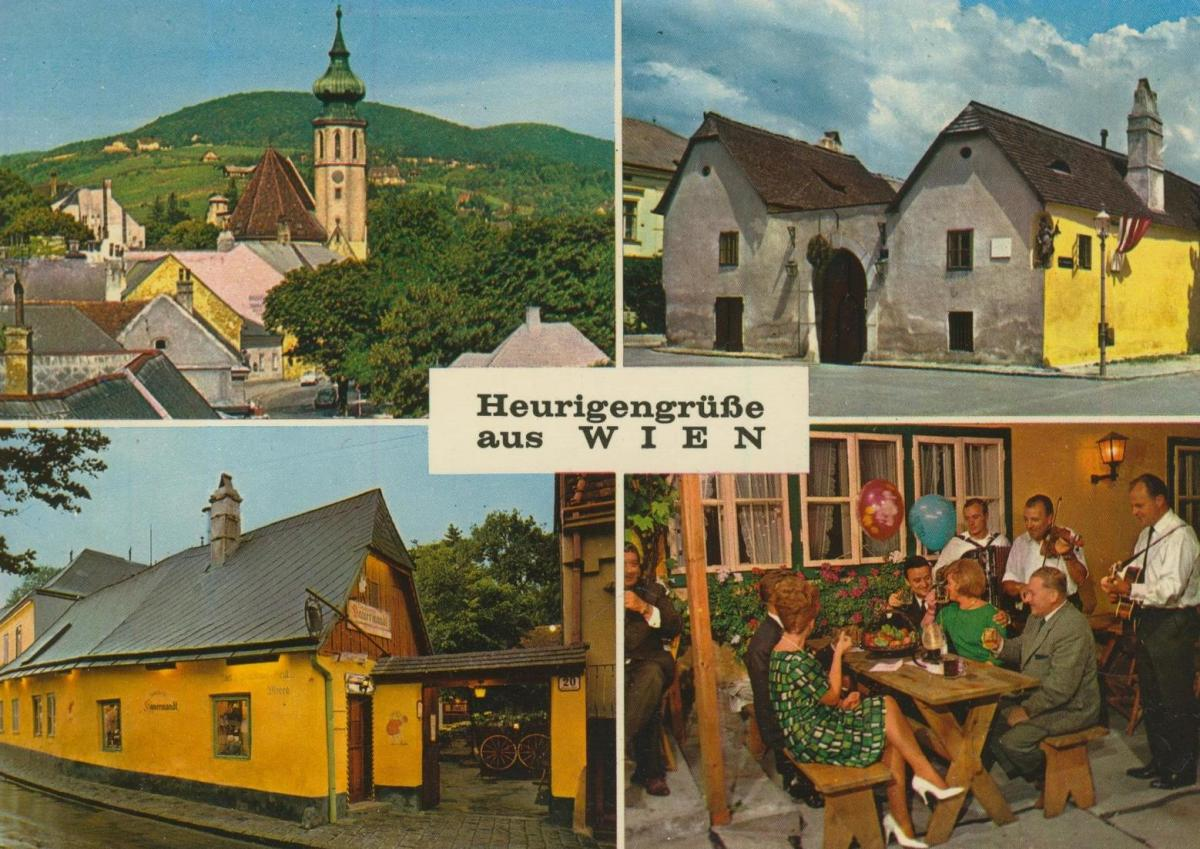 Wien v. 1968  4 Ansichten u.a. beim Heurigen  (56839) 0