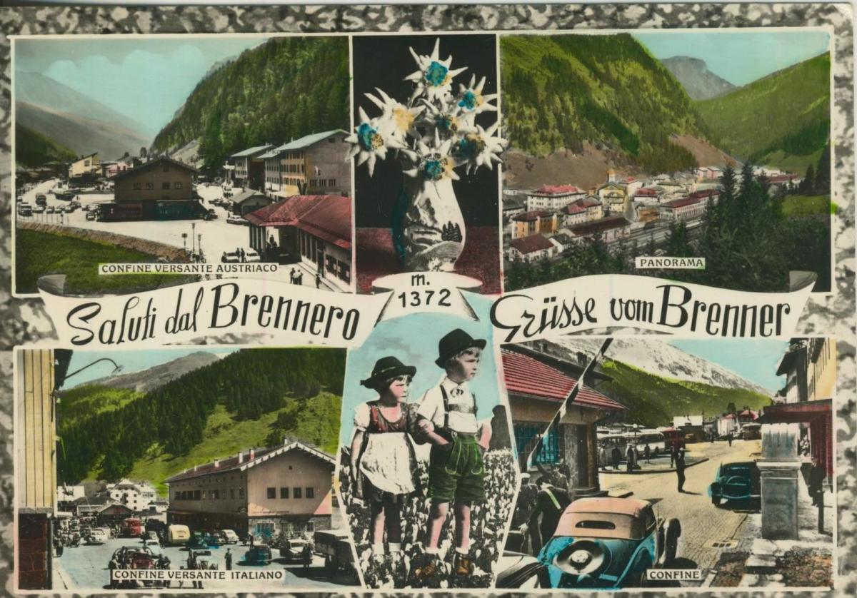 Grüsse am Brenner-Saluti dal Brennero v. 1968  6 Ansichten u.a. Grenze  (56840) 0