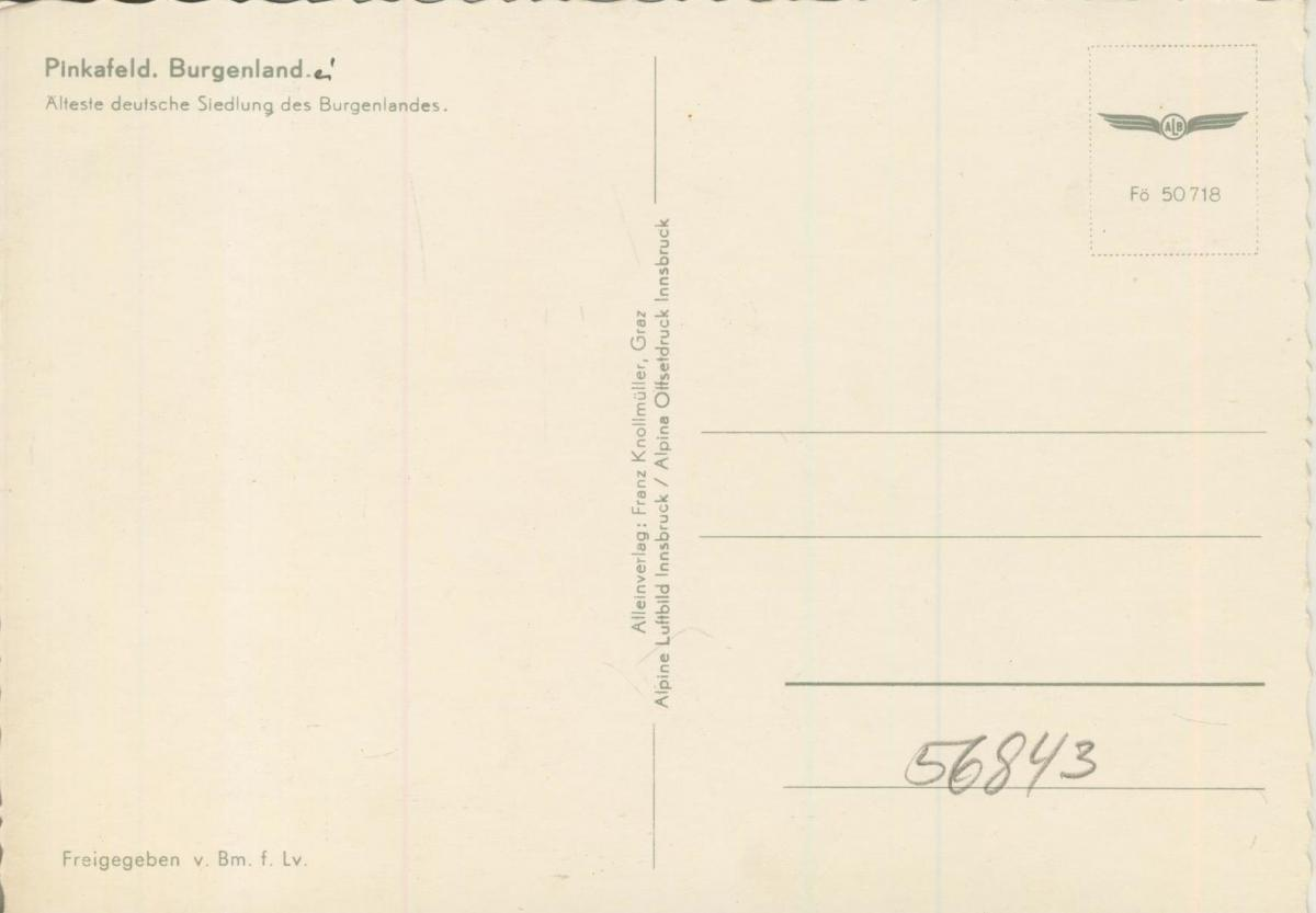 Pinkafeld v. 1974  Luftaufnahme - Dorfansicht  (56843) 1