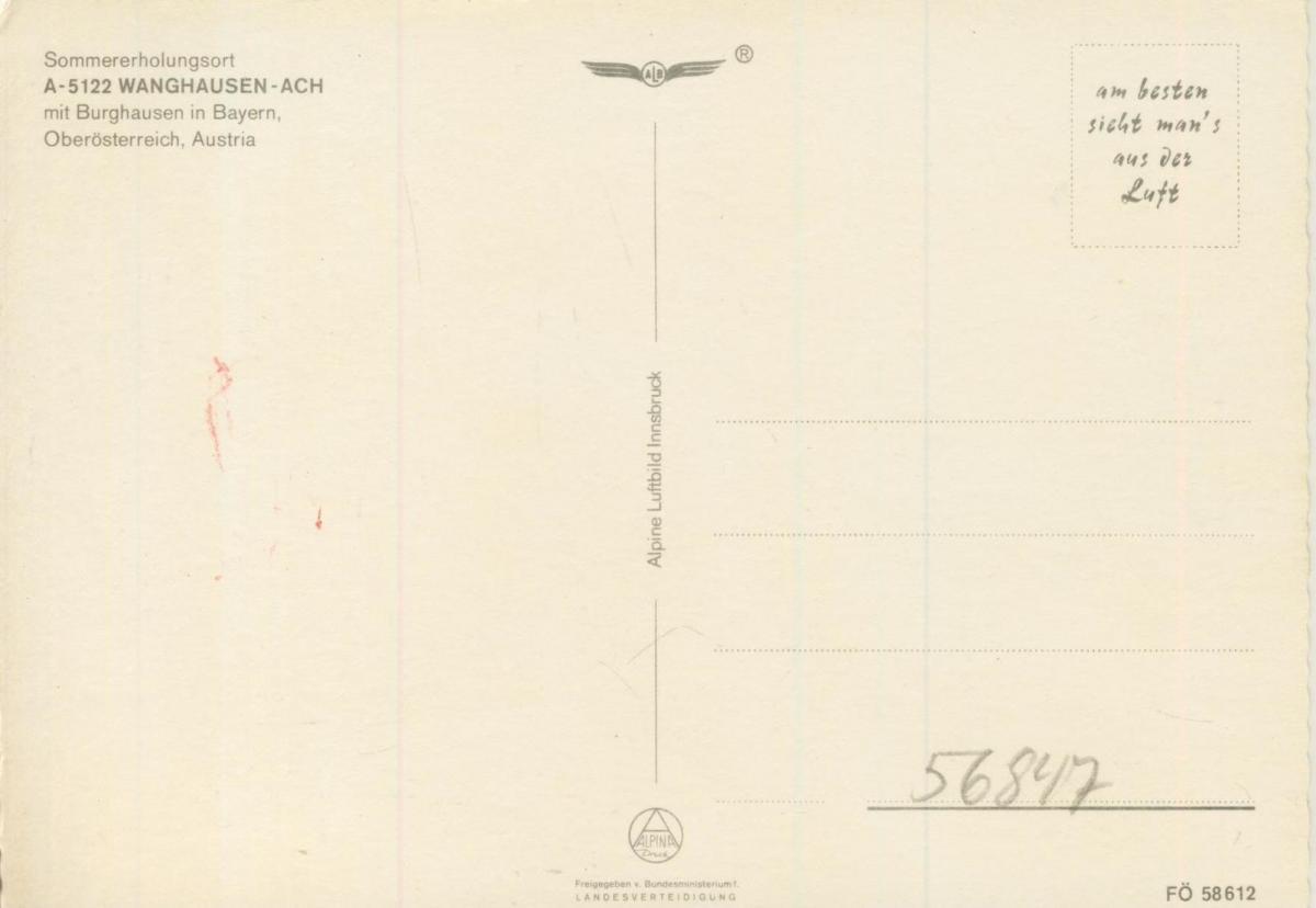 Wanghausen-Ach v. 1974  Dorfansicht  (56847) 1
