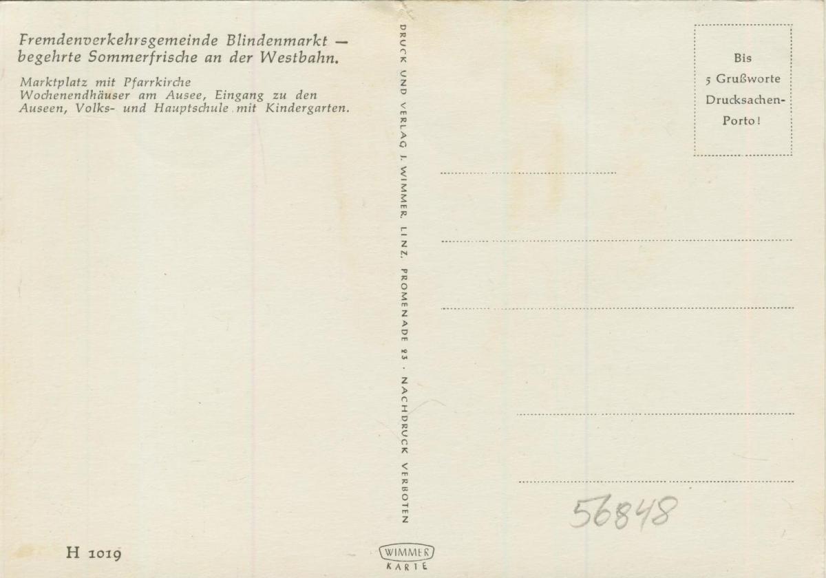 Blindenmarkt v. 1968  4 Ansichten u.a. Wochenendhäuser am Ausee  (56848) 1