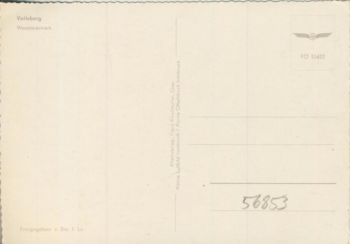 Voitsberg v. 1974  Luftaufnahme - Dorfansicht  (56853) 1