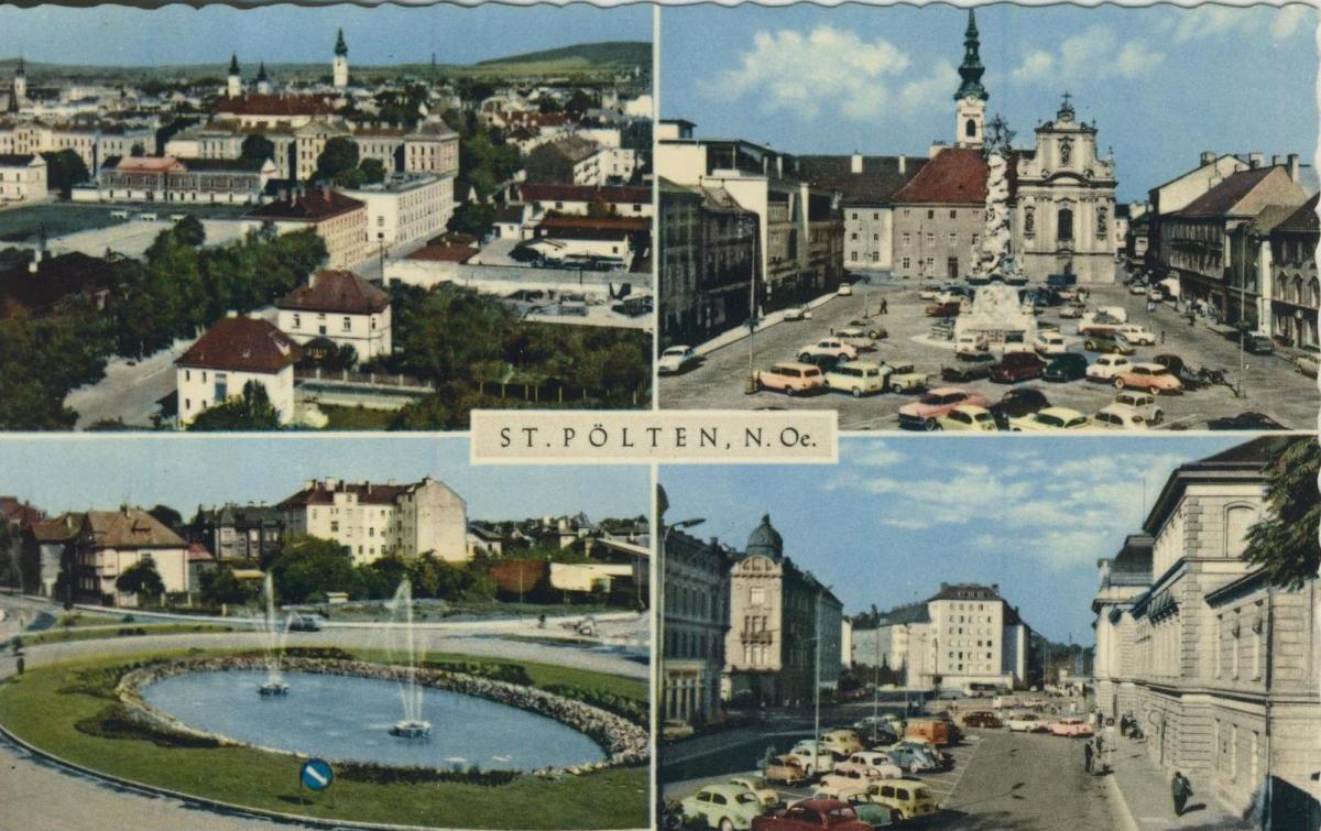 St. Pölten v. 1966  4 Stadt - Ansichten  (56858) 0