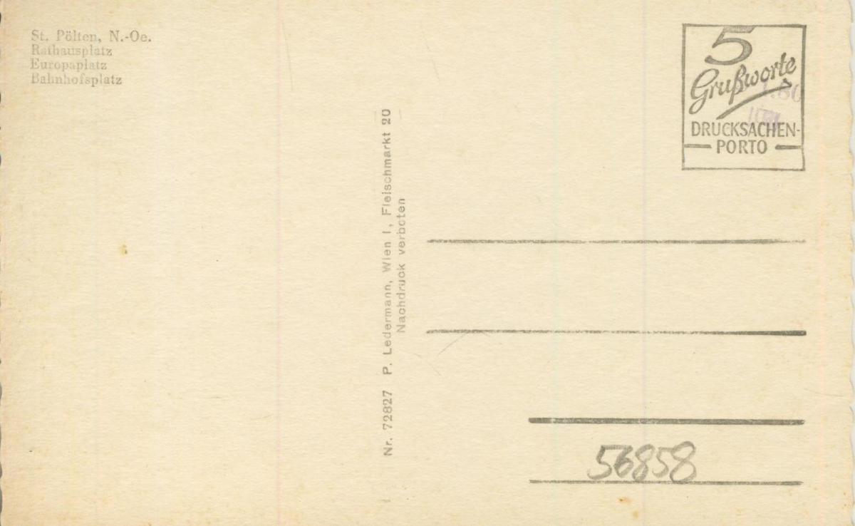 St. Pölten v. 1966  4 Stadt - Ansichten  (56858) 1