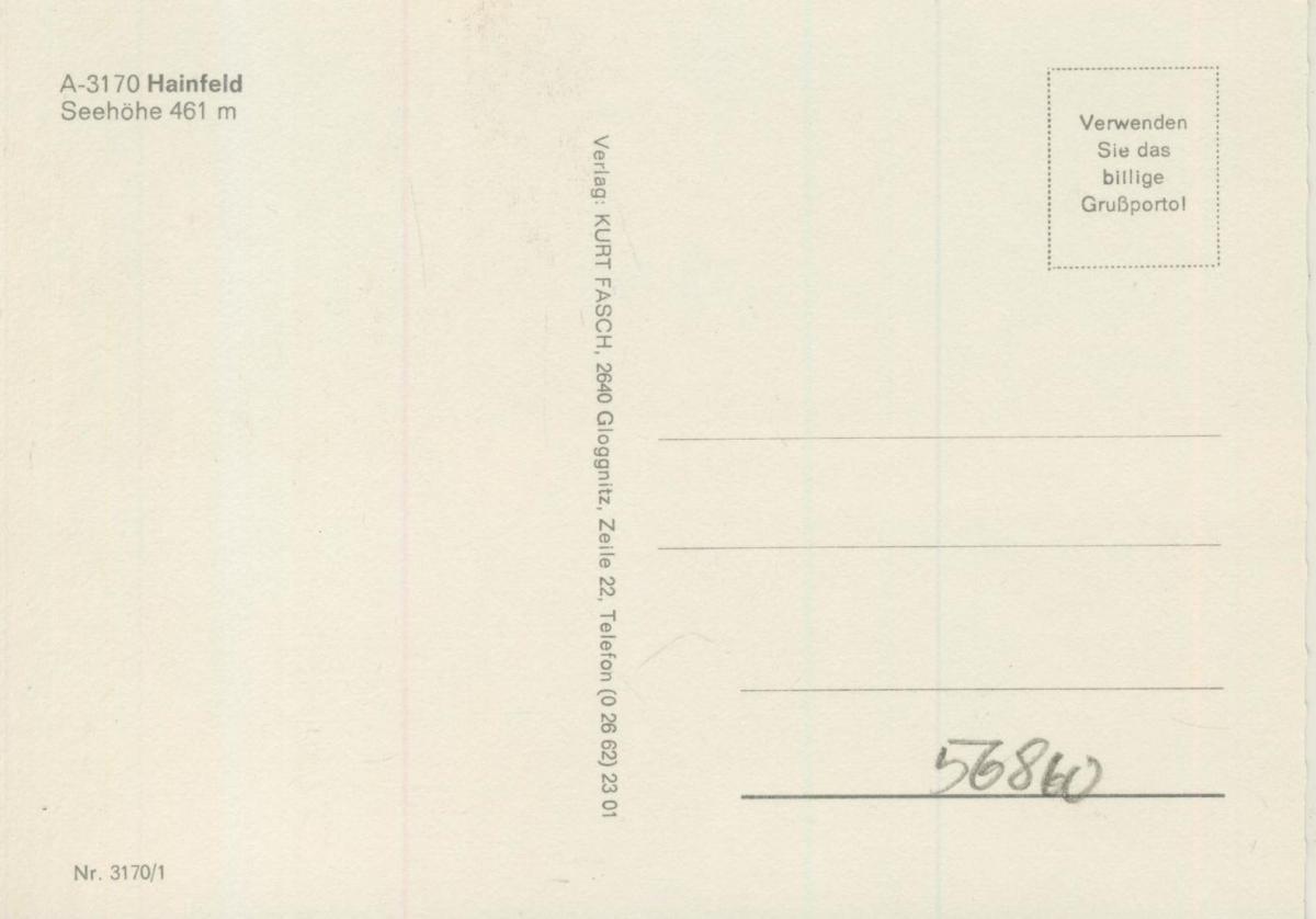 Hainfeld v. 1972  4 Ansichten  (56860) 1
